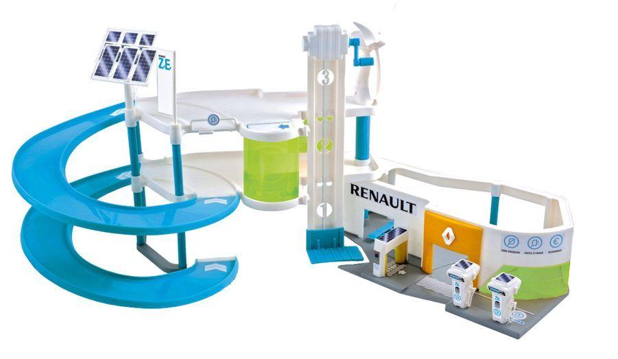 Pour les enfants qui veulent vivre avec leur temps, voici le premier garage pour... voitures électriques. Une idée de Renault vendue dans le réseau. 35 euros.