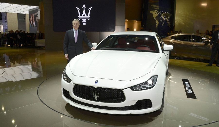 Sur le stand Maserati à Shanghai