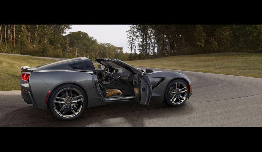 Le toit en carbone est amovible, transformant ainsi la Corvette en «targa». Ce matériau est d'ailleurs présent également sur le capot, pour alléger l'auto. D'autres matériaux composites ont été utilisés dans les ailes, les portes et les panneaux de carrosserie arrières. Avec sa structure en aluminium, le nouveau modèle gagne en tout 45 kg.