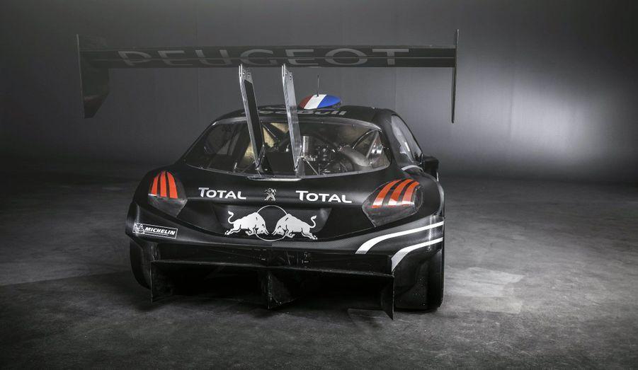 Engagée dans la catégorie «Unlimited», la 208 ne lésine pas sur les appendices aérodynamiques. L'aileron arrière, très large et très haut, a été récupéré sur la 908 victorieuse aux 24 heures du Mans.