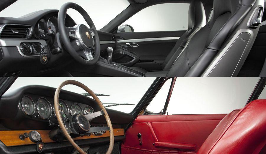 La clé à gauche du volant ou le compte-tour central sont des grands classiques de l'habitacle de la 911 depuis 50 ans.