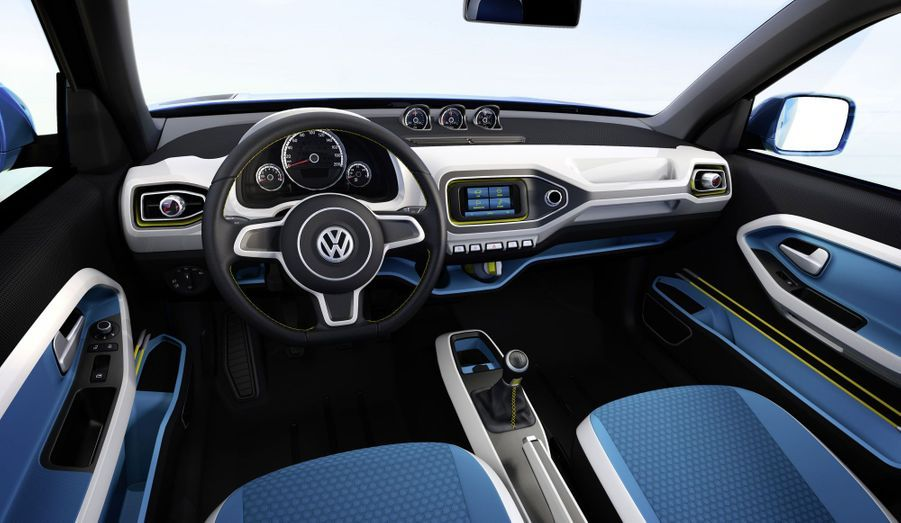 VW a forcé sa nature pour la conception de l'intérieur du Taigun, s'autorisant des couleurs vives qui tranchent avec le traditionnel sérieux des modèles de série de la marque.