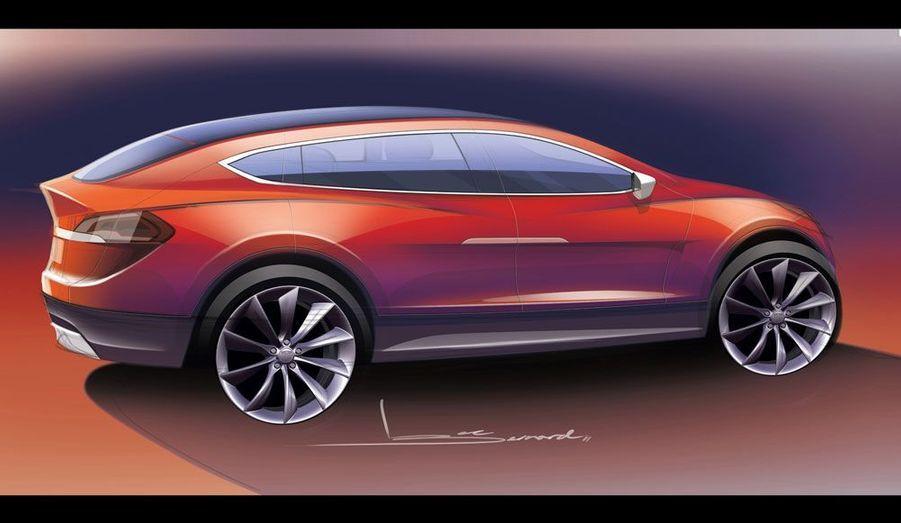 Un faux air de Jaguar XF, un soupçon de BMW Série 5 GT et des lignes fluides: le SUV façon Telsa est élégant.