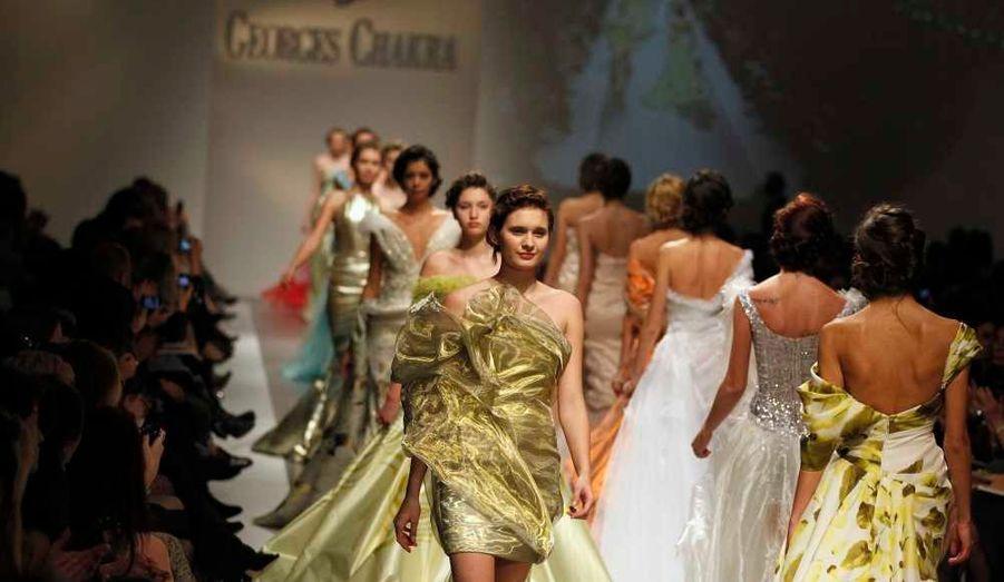 Le designer libanais Georges Chakra a présenté sa collection Printemps-Eté 2012 à l'occasion de la Fashion Week de Beyrouth.
