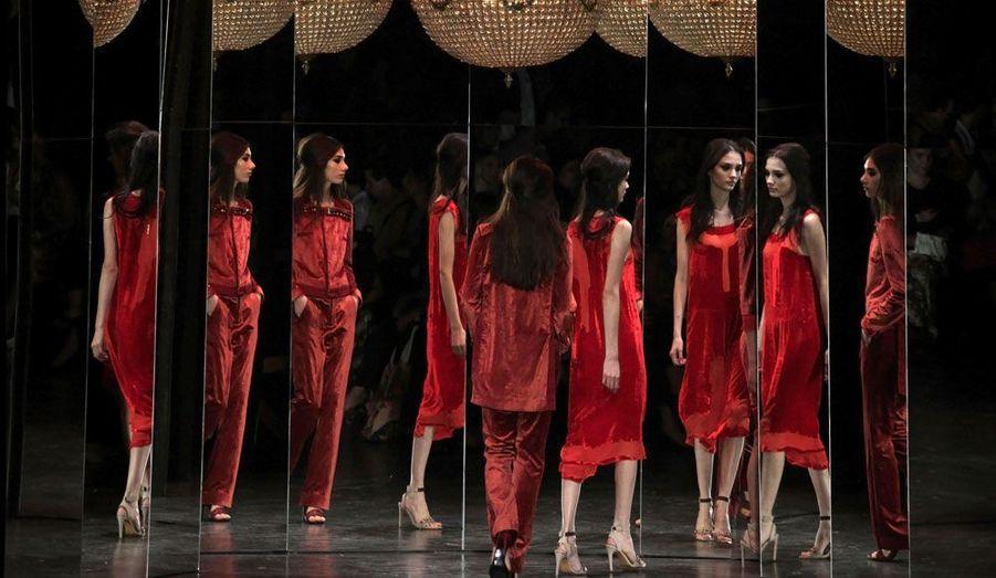 La marque Animale présente sa collection Hiver 2012 lors de la Fashion Week de Sao-Paulo au Brésil.