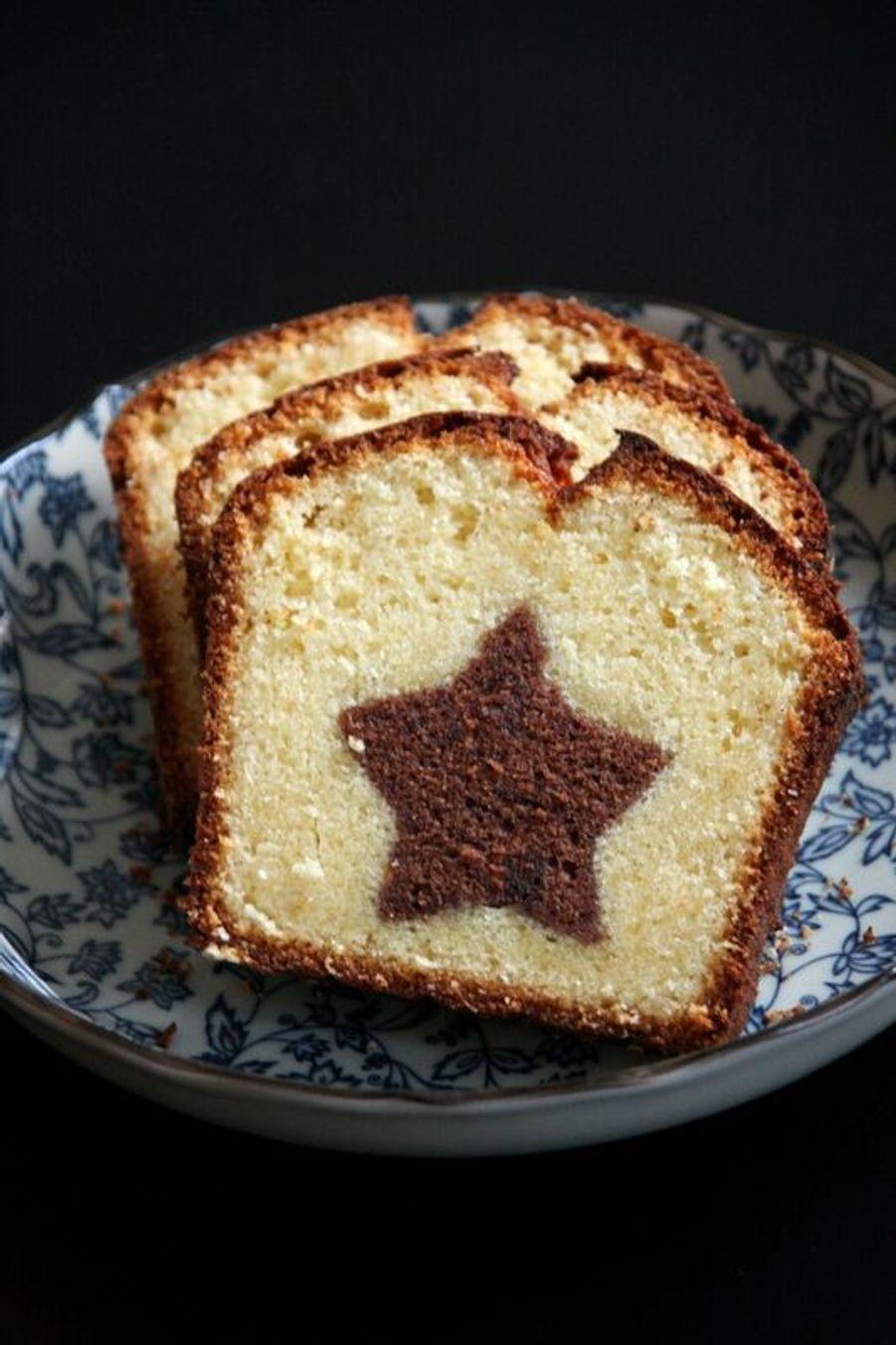 Gâteau avec étoile https://www.pinterest.fr/pin/404057397793354494/