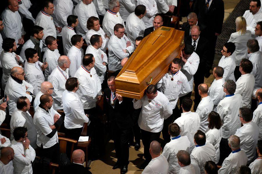 Les obsèques de Paul Bocuse ont eu lieu à Lyon, le 26 janvier 2018.