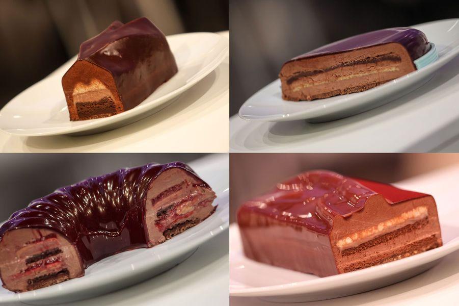 Sélection de desserts présentés lors de la Coupe du Monde de pâtisserie 2017.