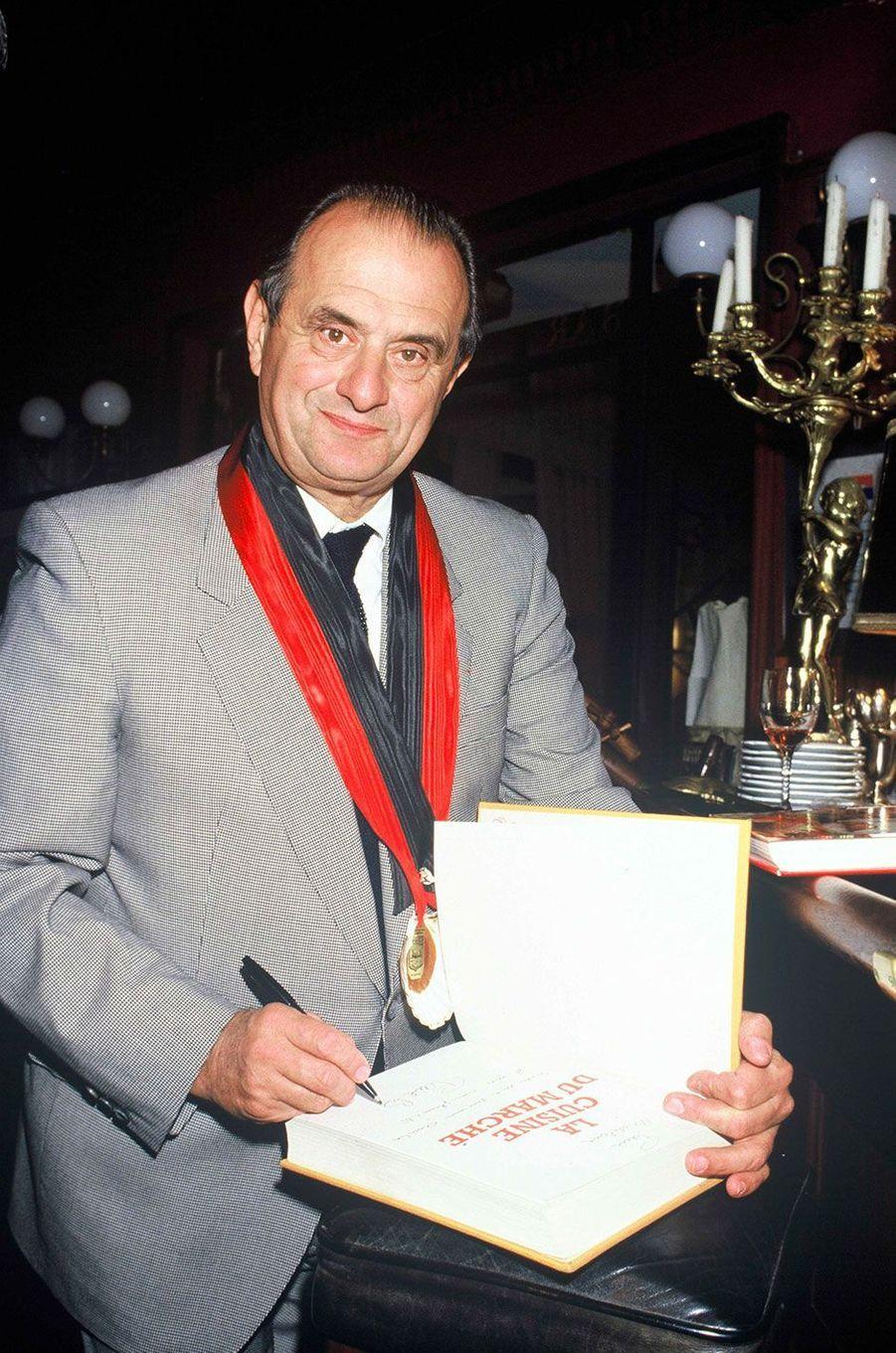 Le chef Paul Bocuse à Biarritz, en novembre 1985.