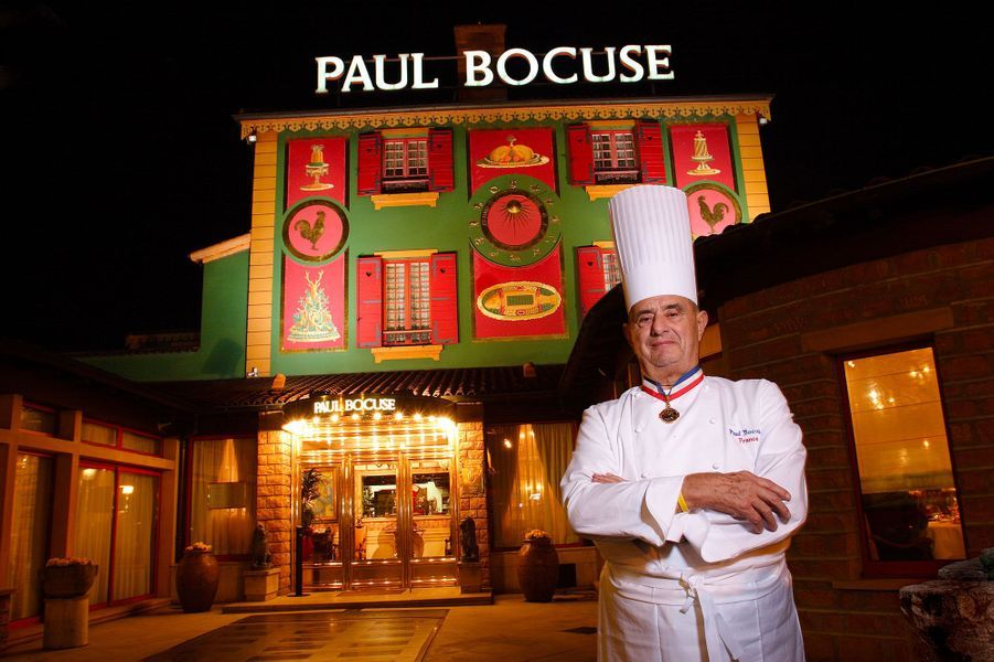 Le chef Paul Bocuse à Collonges-au-Mont-d'Or, en mars 2005.