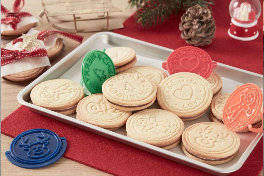 Biscuits de Noël fourrés au Nutella
