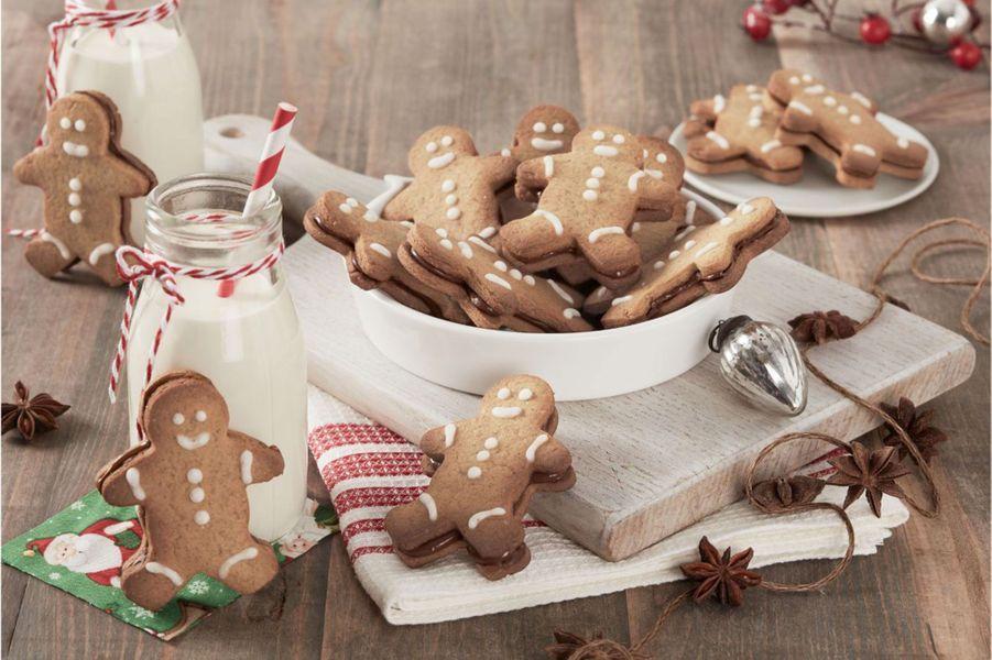 Bonhommes aux épices de Noël et au Nutella