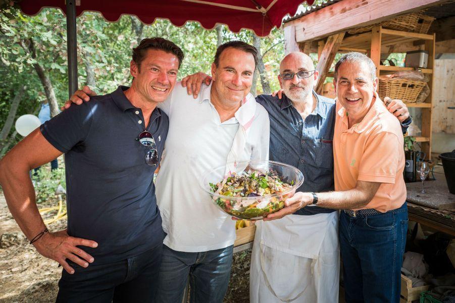Alain Pegouret (Le Laurent), Jean-Francois Rouquette (Pur'), Alain Cohen et Philippe Labbé (La Tour d'Argent) chez Bruno Cayron.