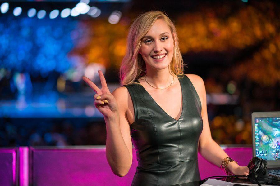 """Eefje Depoortere alias """"Sjokz"""", intervieweuse pour Riot Games, éditeur du jeu """"League of Legends""""."""