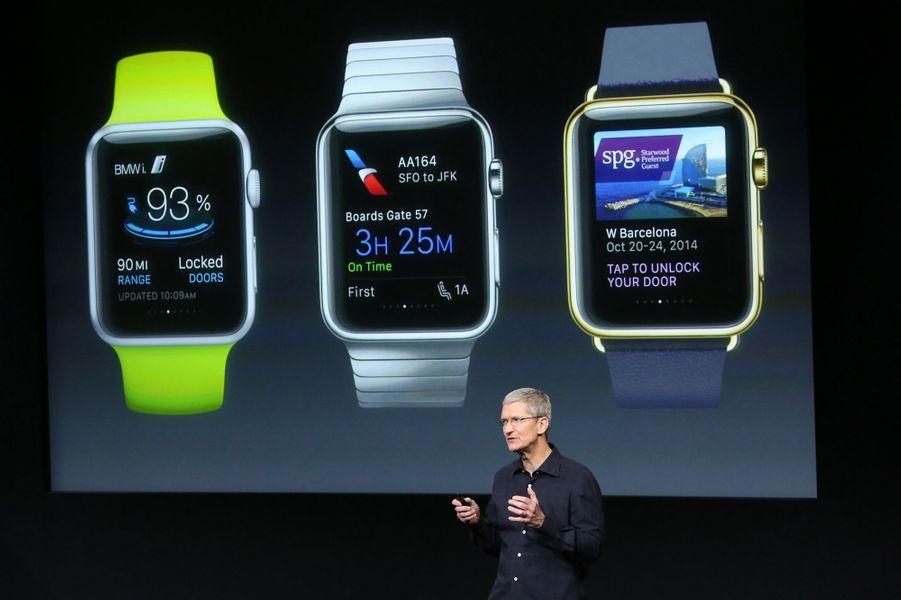 Apple présente sa montre intelligente