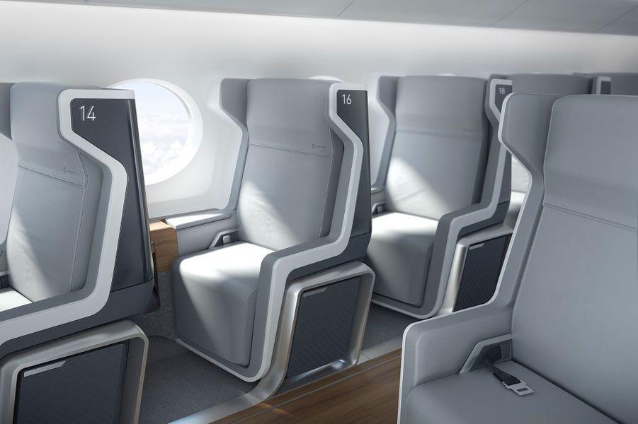 45 places à l'intérieur de l'avion