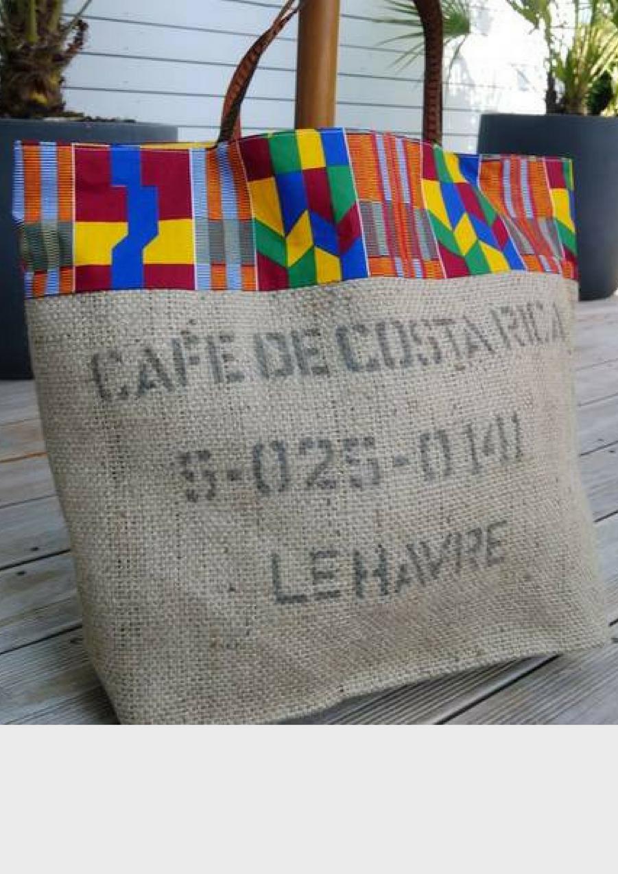 Sac de plage en toile de sac de café recyclé du Costa Rica, 59€Voir l'épingle