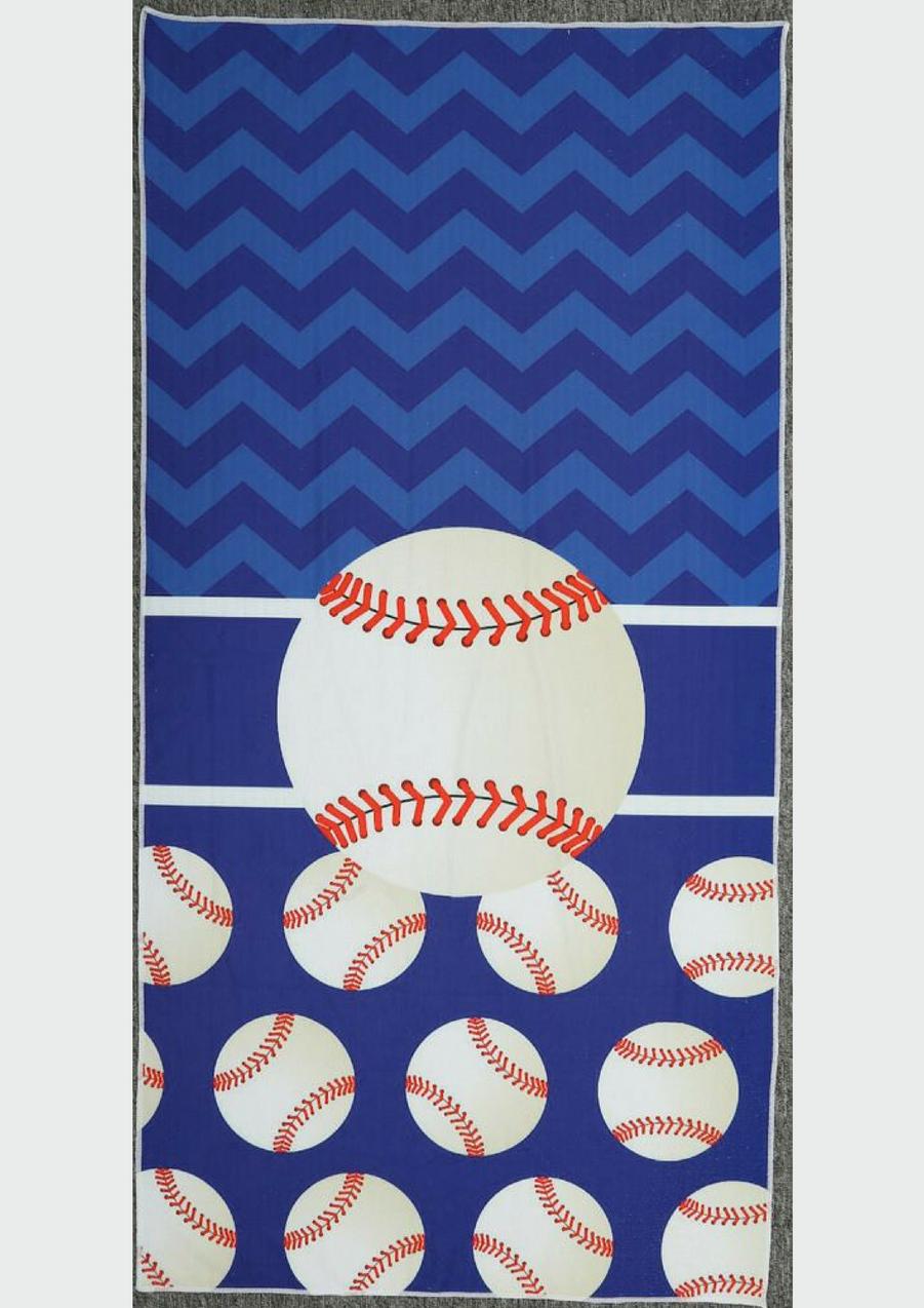 Serviette de plage rectangulaire à motif baseball, 16.15€Voir l'épingle