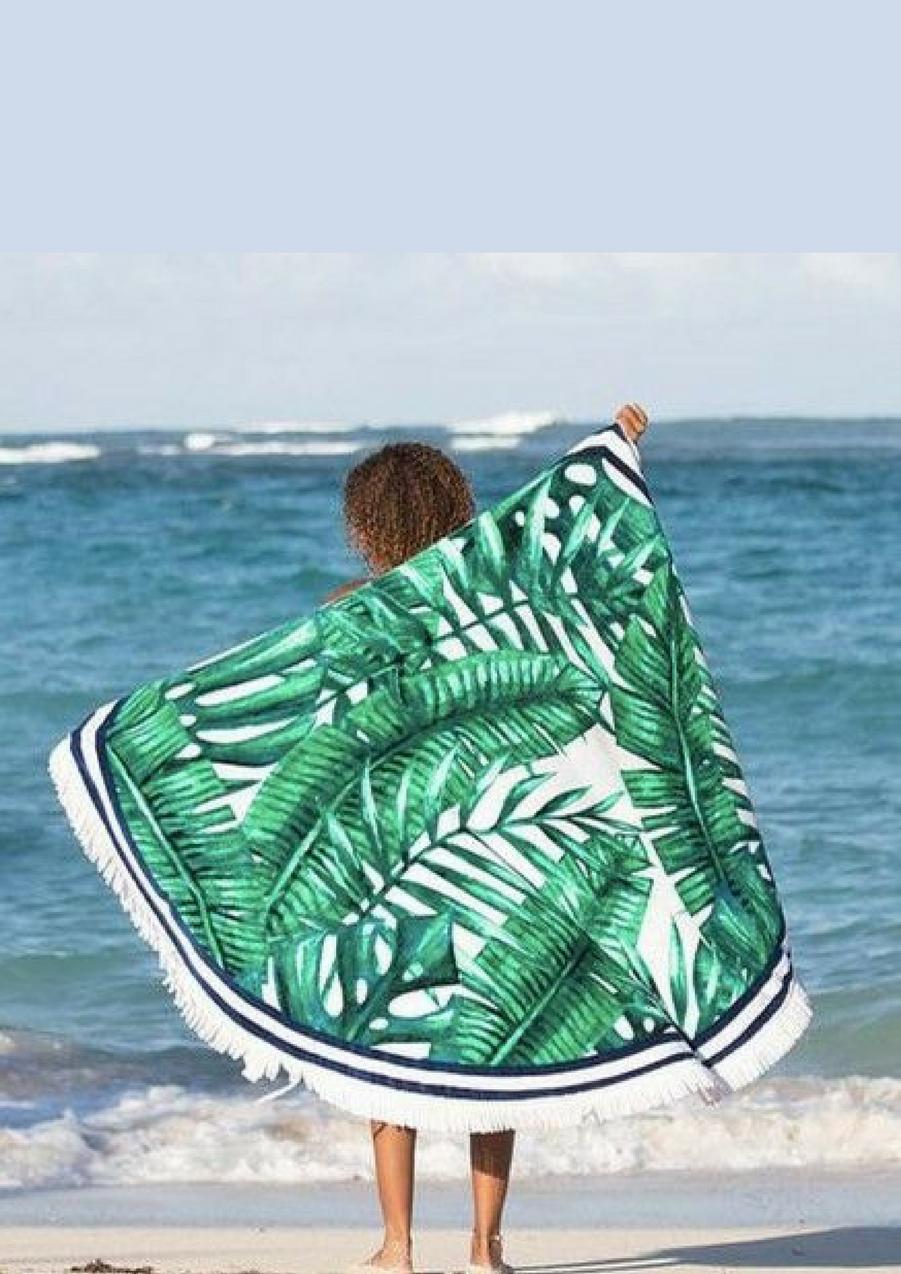 Serviette de plage ronde tropicale, 79.95€Voir l'épingle