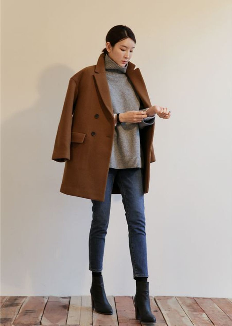Manteau marron https://www.pinterest.fr/pin/347832771205423893/