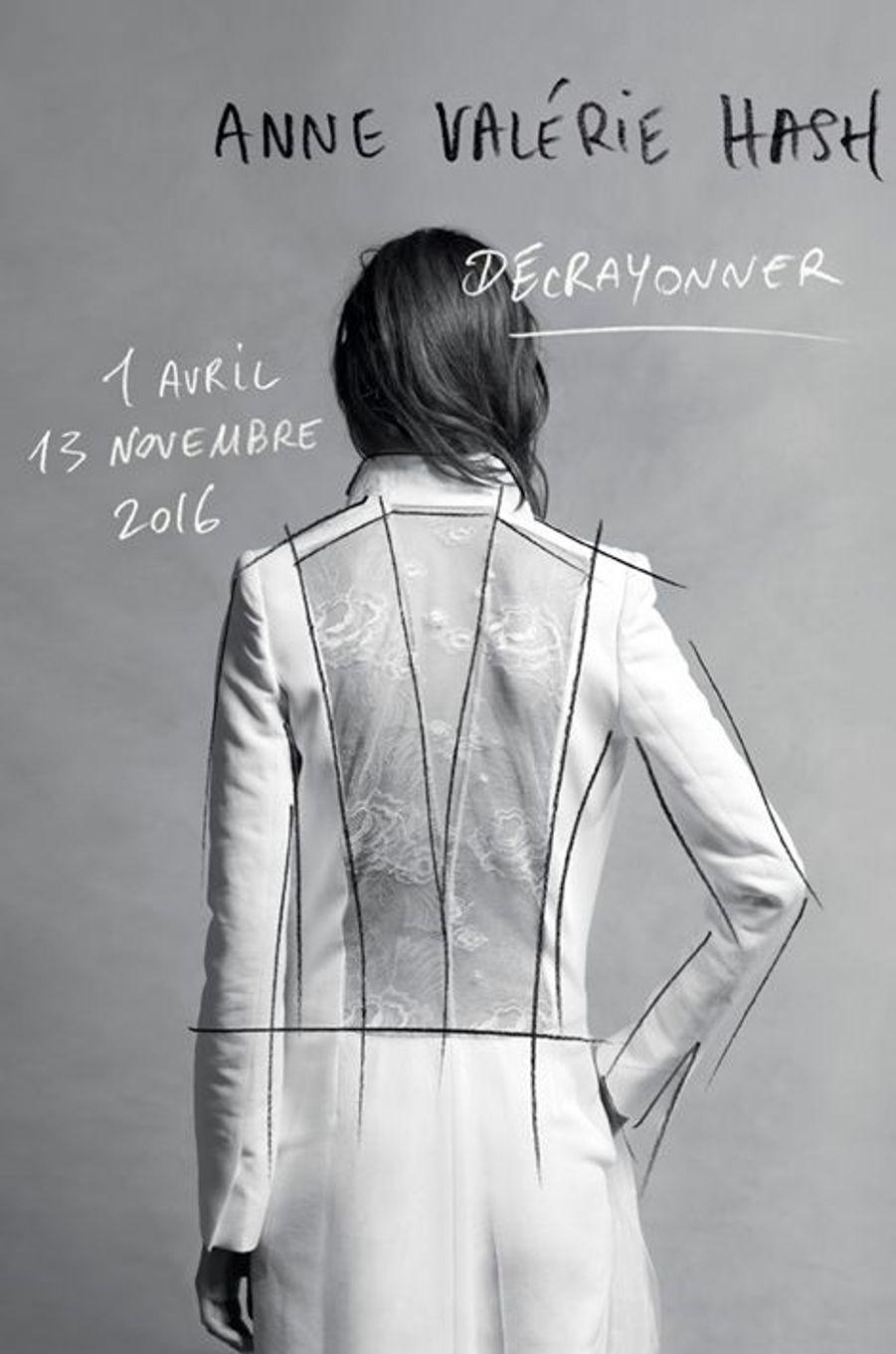 Couverture du catalogue d'exposition Anne Valérie Hash. Décrayonner Co-édition CDM / Liénart A paraître avril 2016