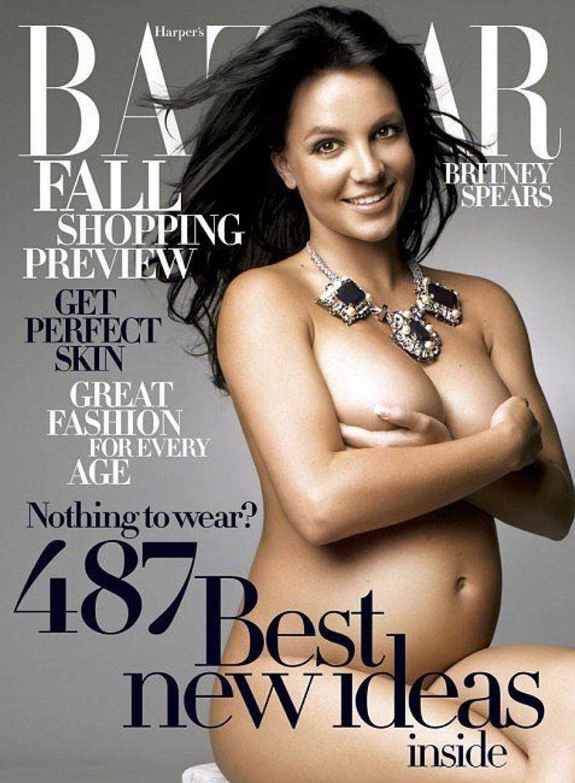 Enceinte de son second fils, Jayden en août 2006, la chanteuse avait posé pour le Harper's Bazaar.