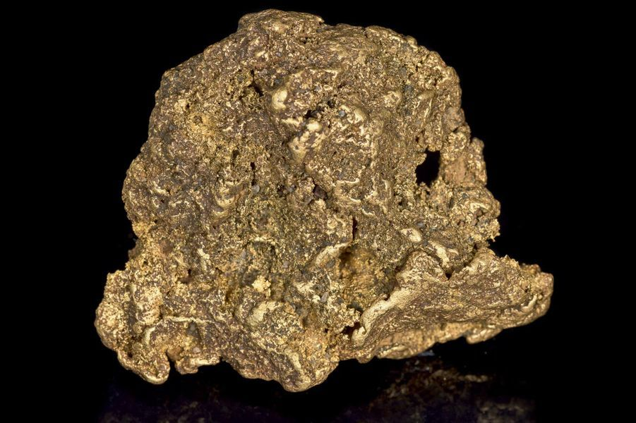 Pépite d'or natif de près de 1 kilo, Madagascar