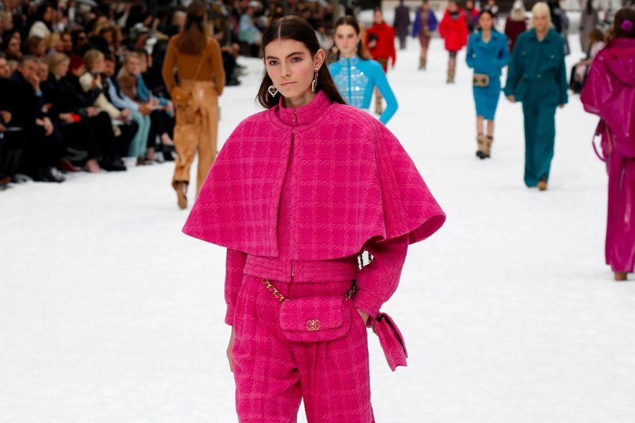 Chanel a dévoilé la dernière collection dessinée par Karl Lagerfeld, le 5 mars 2019.