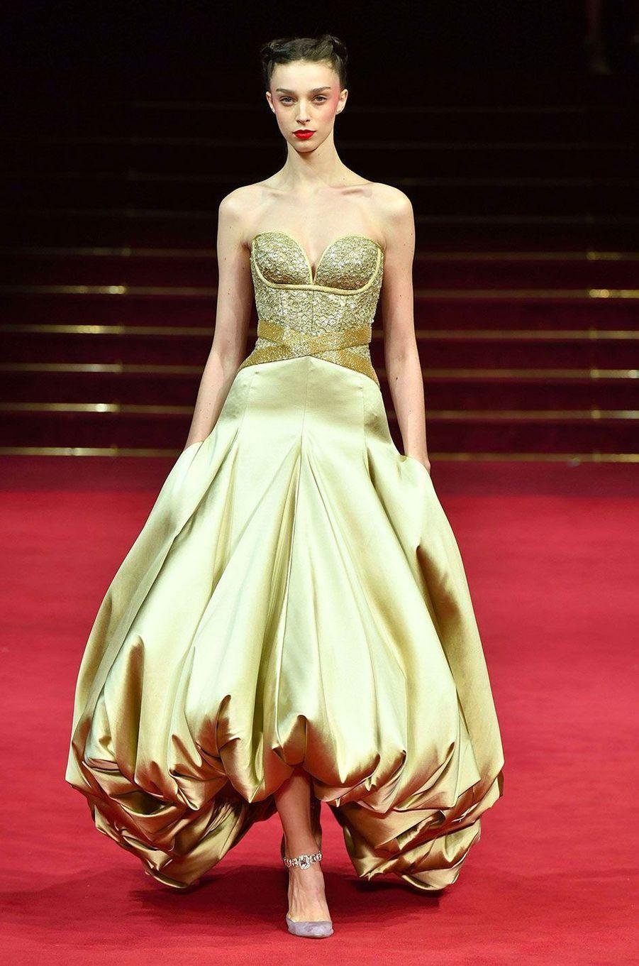 Le défilé Haute Couture d'Alexis Mabille, présenté à Paris le 23 janvier 2018.