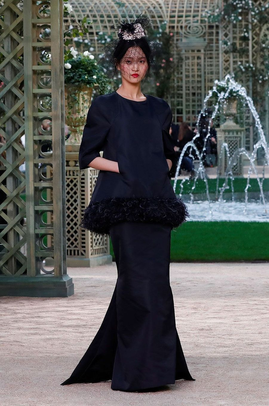Le défilé Haute Couture de Chanel, présenté à Paris le 23 janvier 2018.