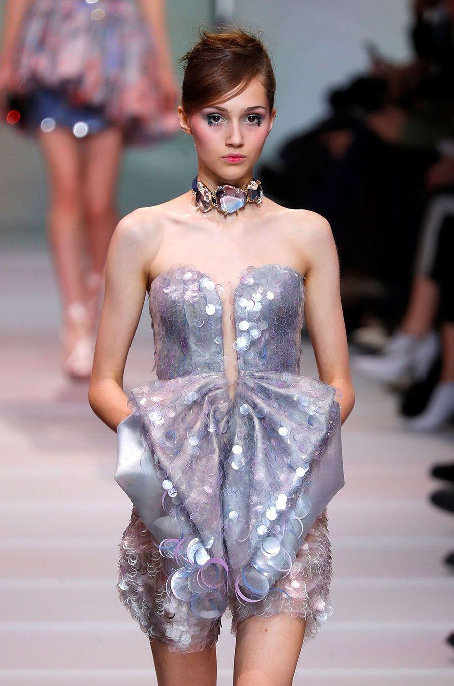 Le défilé Haute Couture de Giorgio Armani Privé, présenté à Paris le 23 janvier 2018.