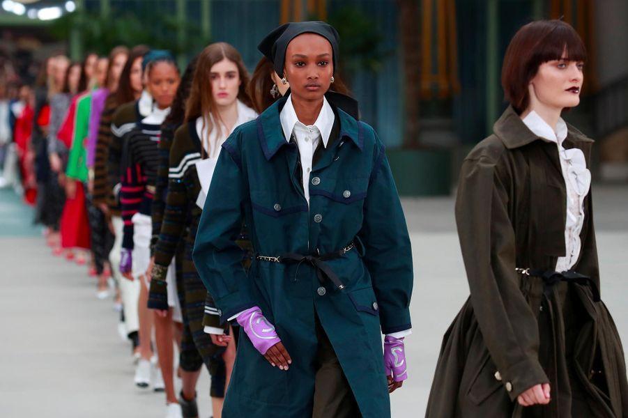 """Présentation de lacollection """"croisière"""" de Chanel, à Paris, le 3 mai 2019."""