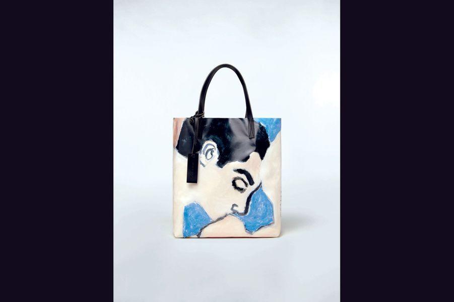 Shopping bag en PVC Betsy Podlach pour Marni, prix sur demande.