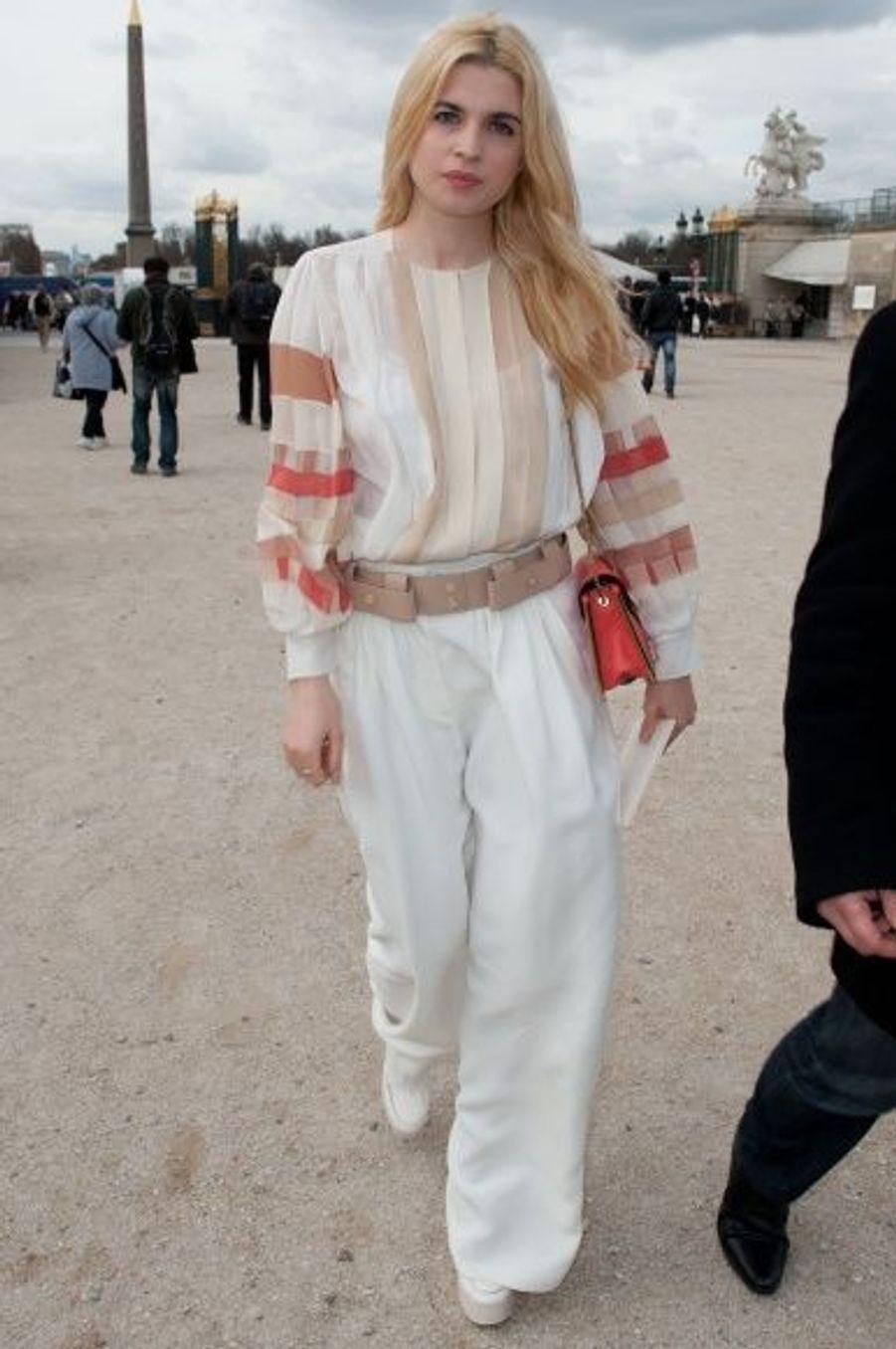 Le 5 mars, lors de la présentation de la collection Chloé.