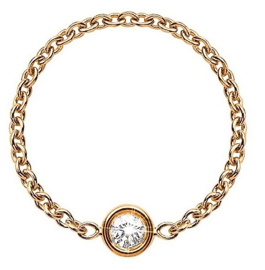 Mimi et mini A son arrivée chez Dior en 1999, Victoire de Castellane s'est employée à dépoussiérer la joaillerie française en imposant un style fantasmagorique, où l'énorme côtoyait le minuscule, la pièce unique, des modèles se vendant à des milliers d'exemplaires. Emblématique à ce titre, la bague Mimioui. Cet anneau composé d'une chaîne minuscule et d'un diamant microscopique marqua les esprits. Filles, femmes l'adoptèrent immédiatement. Pourtant, Dior l'arrêta un temps. De retour, Mimioui devient Mimirose et se déploie également en émeraude ou rubis. Toujours aussi sexy. 700 euros.