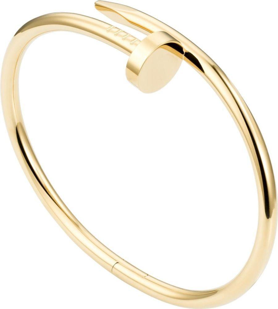 Bracelet Juste un clou en or jaune, 6 850 euros, Cartier.