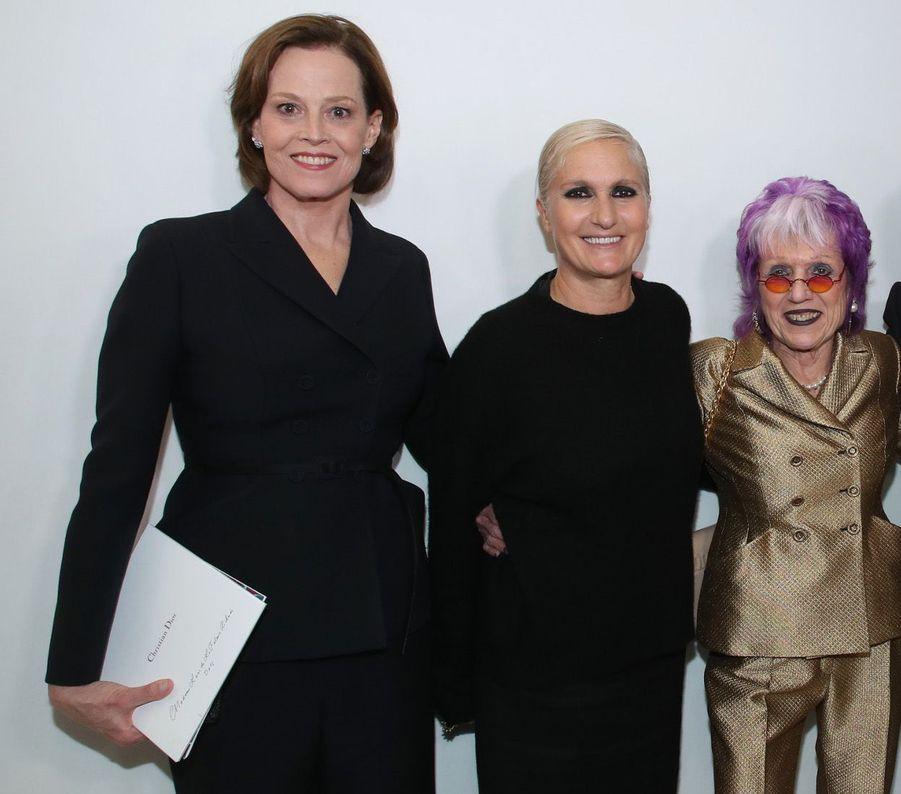 Sigourney Weaver, Maria Grazia Chiuri et Judy Chicago.