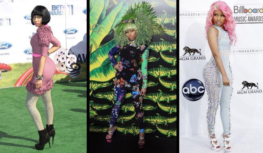 Toujours des looks fun et hauts en couleur pour la chanteuse.