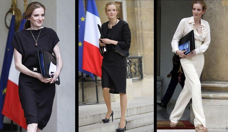 """""""ELLE"""" salue le look """"politique-classe"""" de NKM."""