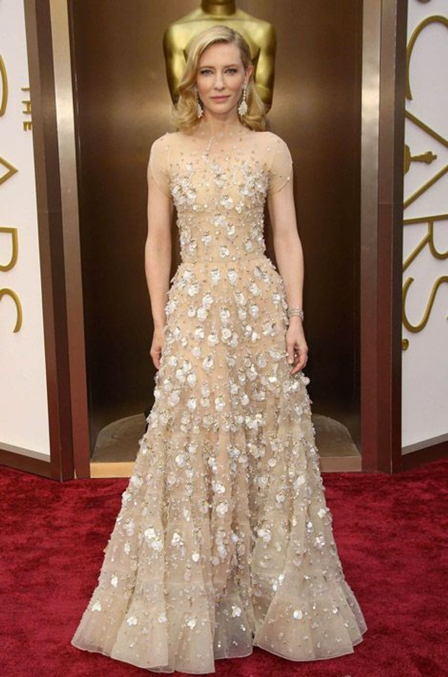 Cate Blanchett en Armani Privé pour la cérémonie des Oscars le 2 mars 2014