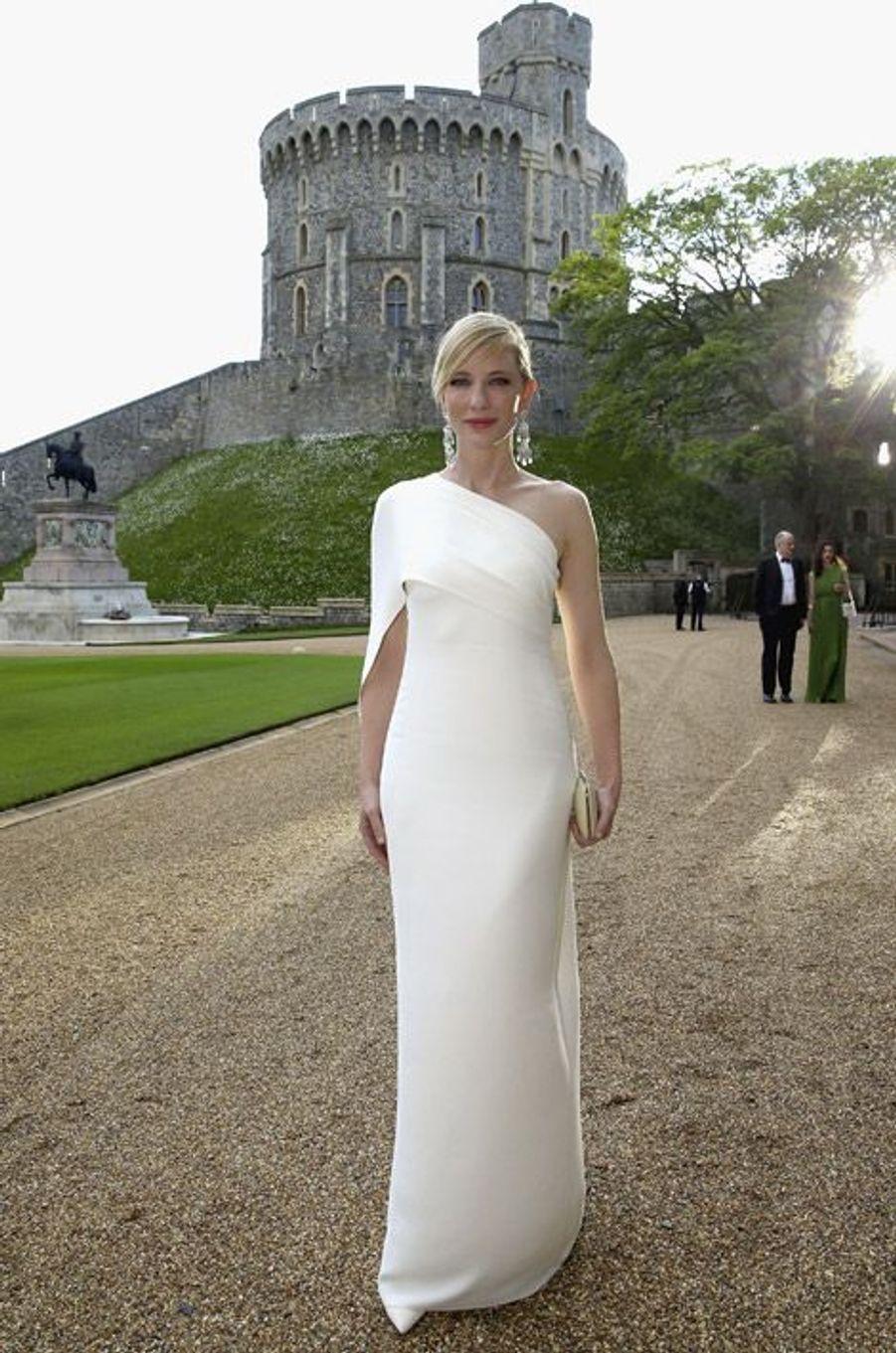 L'actrice Cate Blanchett en Ralph Lauren pour un dîner au château de Windsor, le 13 mai 2014