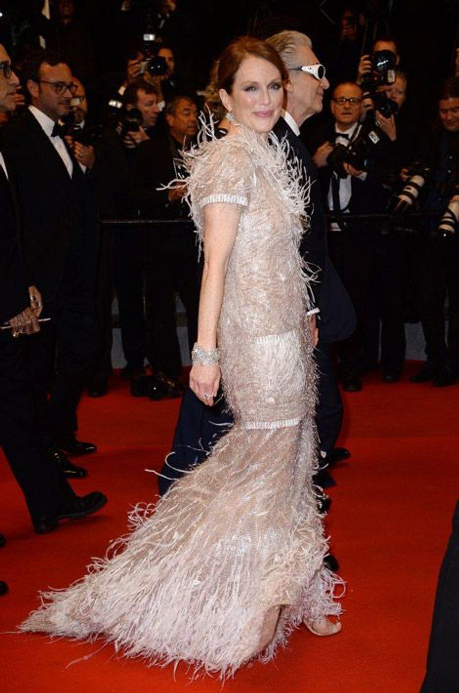 L'actrice Julianne Moore en Chanel au Festival de Cannes, le 19 mai 2014