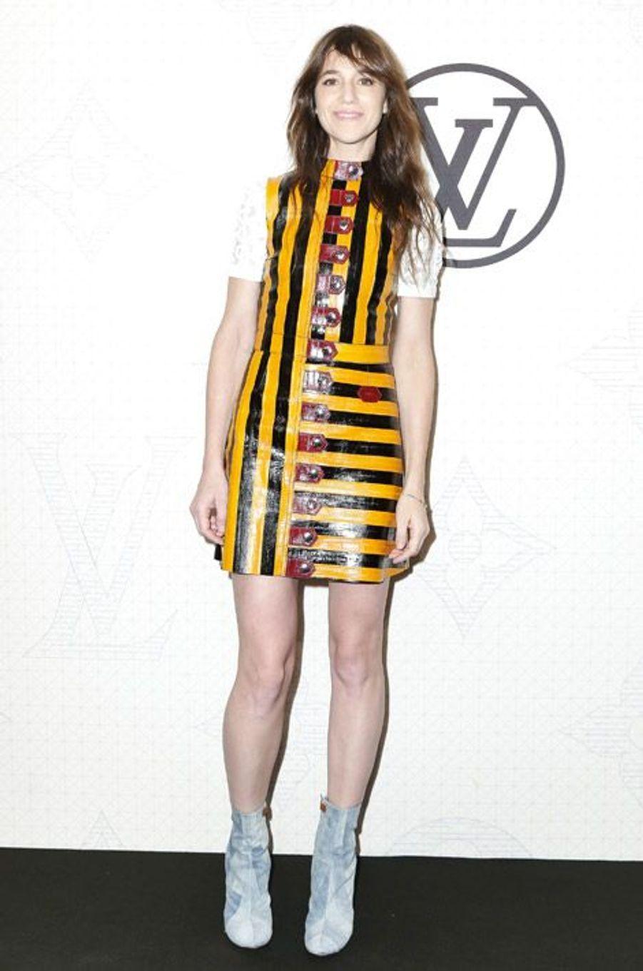 L'actrice Charlotte Gainsbourg lors de la soirée Louis Vuitton à New York, le 7 novembre 2014