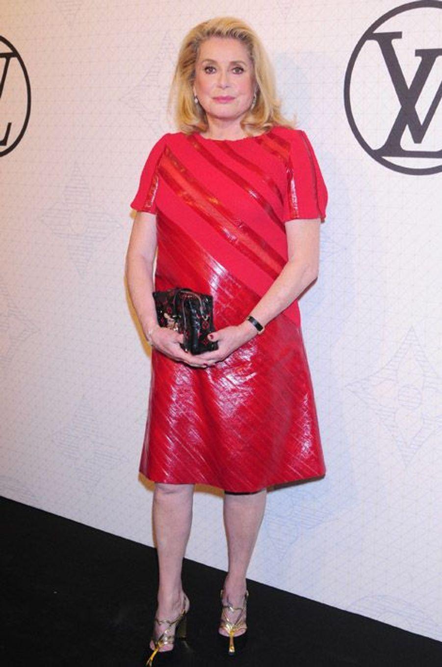 L'actrice française Catherine Deneuve lors de la soirée Louis Vuitton à New York, le 7 novembre 2014