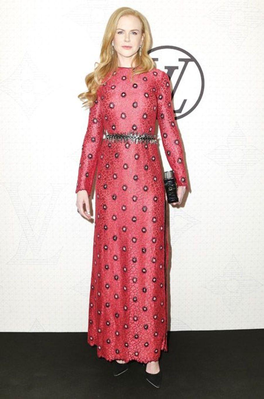 L'actrice Nicole Kidman lors de la soirée Louis Vuitton à New York, le 7 novembre 2014