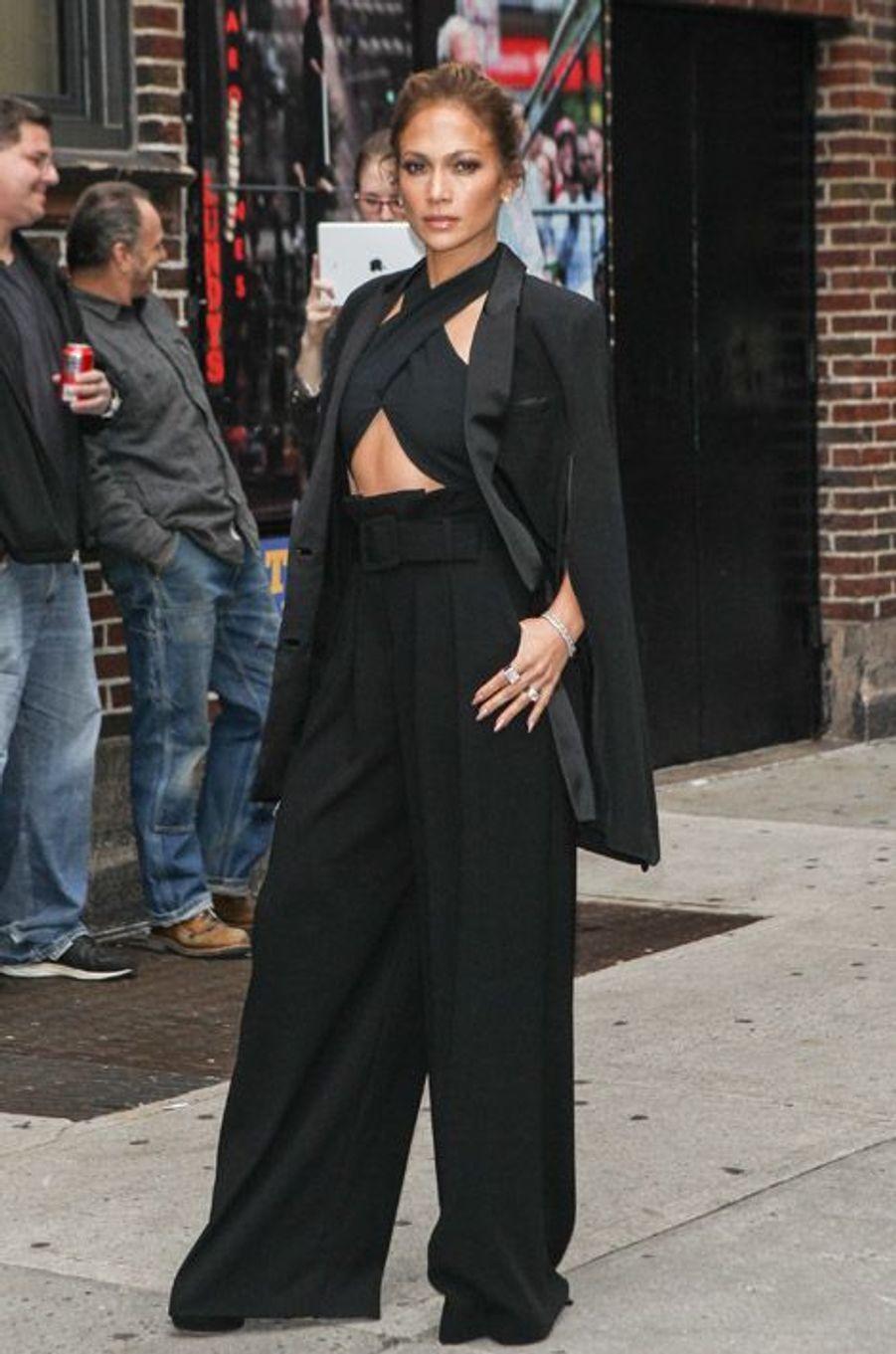 La chanteuse Jennifer Lopez en Noon by Noor avant une émission de télévision américaine, à New York