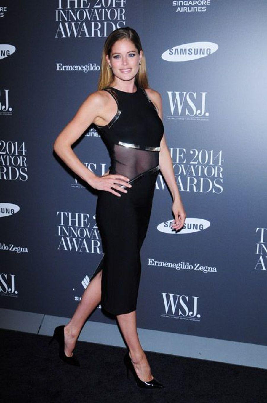 Le mannequin Doutzen Kroes à la soirée Innovator Awards à New York, le 5 novembre 2014
