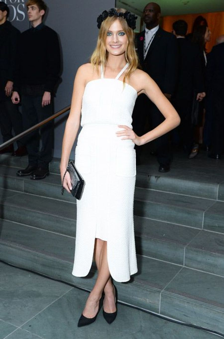 Le mannequin français Constance Jablonski à la soirée Innovator Awards à New York, le 5 novembre 2014