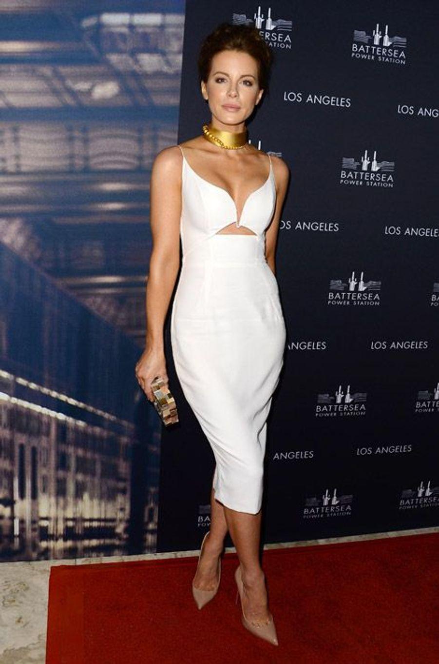 Le mannequin Kate Beckinsale en Zimmermann lors d'une soirée à Hollywood, le 6 novembre 2014