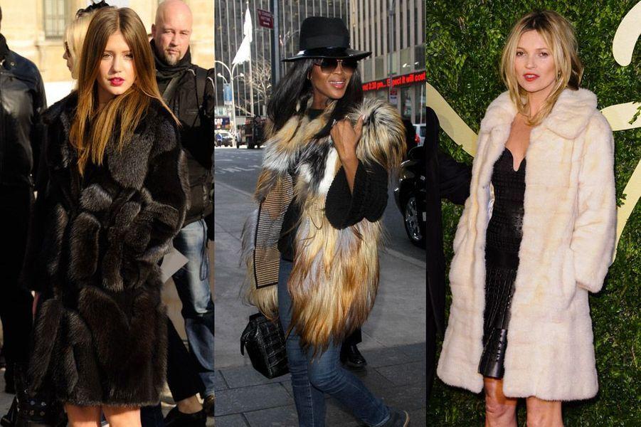 Adèle Exarchopoulos, Naomi Campbell, Kate Moss : vraie ou fausse fourrure, les stars se mettent au chaud